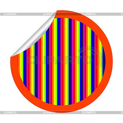 무지개 줄무늬 스티커 화이트에 격리 | 벡터 클립 아트 |ID 3004837