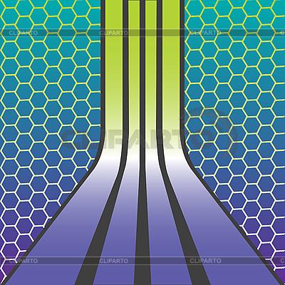 Streifen und Waben | Stock Vektorgrafik |ID 3005012
