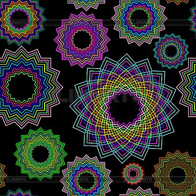 Schwarzes nahtloses Blumenmuster | Stock Vektorgrafik |ID 3005180