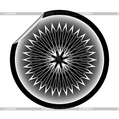 Schneeflocke-Aufkleber | Illustration mit hoher Auflösung |ID 3005296