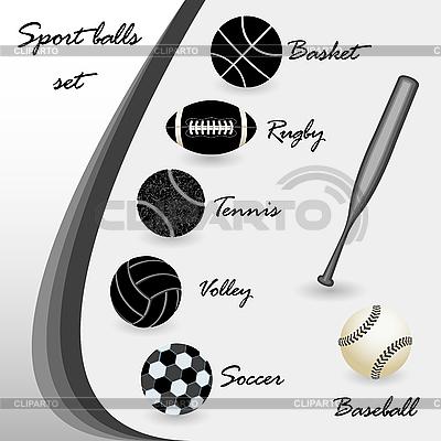 Piłki sportowe ustawić | Klipart wektorowy |ID 3005358