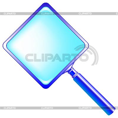 Square blue magnifying glass   Klipart wektorowy  ID 3005376