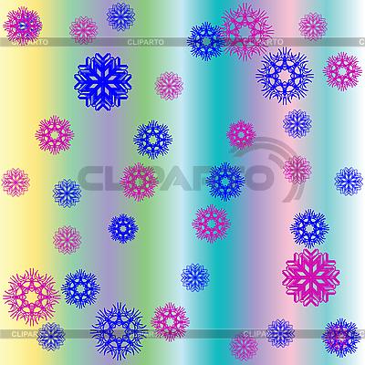 Weihnachten Hintergrund mit Schneeflocken, Blumen und Streifen | Stock Vektorgrafik |ID 3005472