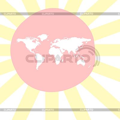 Sonnige Weltkarte | Stock Vektorgrafik |ID 3005538