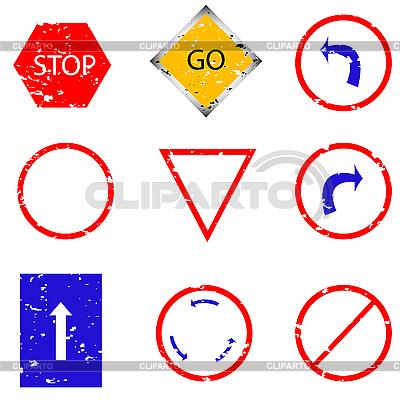 교통 표지판 스탬프 | 벡터 클립 아트 |ID 3005652