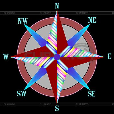 Rote Windrose | Stock Vektorgrafik |ID 3005896