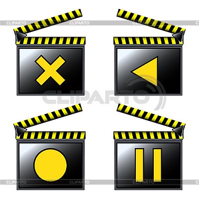 Film kino szczegółowe ikon | Klipart wektorowy |ID 3006278