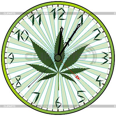 Uhr mit Hanf | Stock Vektorgrafik |ID 3029169