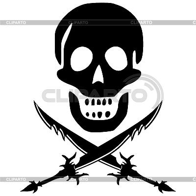海盗头骨与剑 | 向量插图 |ID 3061728