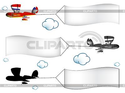Flugzeuge mit Bannern | Stock Vektorgrafik |ID 3132878