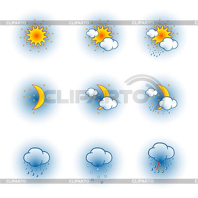 Погода иконки на белом фоне