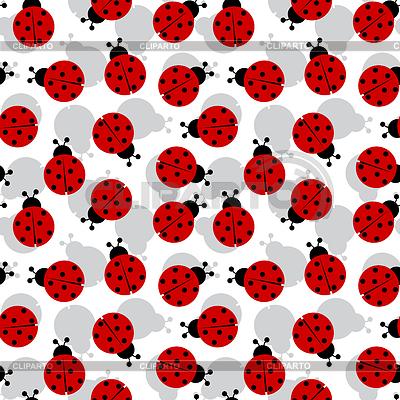 Marienkäfer als nahtlose Textur | Stock Vektorgrafik |ID 3349380