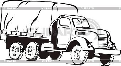 Stara ciężarówka | Klipart wektorowy |ID 3000942