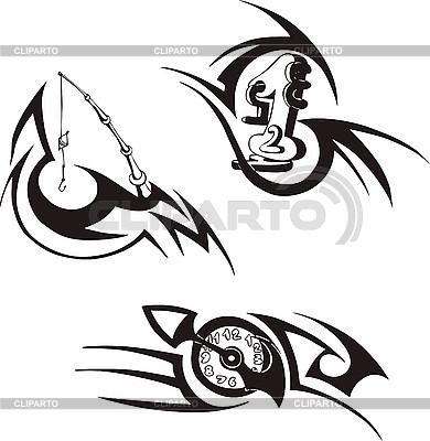 Drei Embleme | Stock Vektorgrafik |ID 3001238