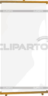 介绍卷起旗帜 | 向量插图 |ID 3001802
