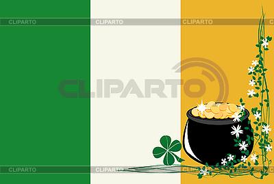 St Patrick `s Day and Irish Flag | Klipart wektorowy |ID 3001886