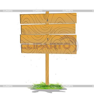 Stilisierte Holzbrett auf einem Gras | Stock Vektorgrafik |ID 3001921