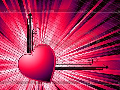 抽象的情人节卡 | 向量插图 |ID 3001935