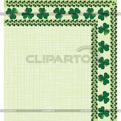 Уголок-орнамент с клевером | Векторный клипарт |ID 3001969