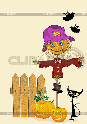 Świętowanie Halloween card | Klipart wektorowy |ID 3001982