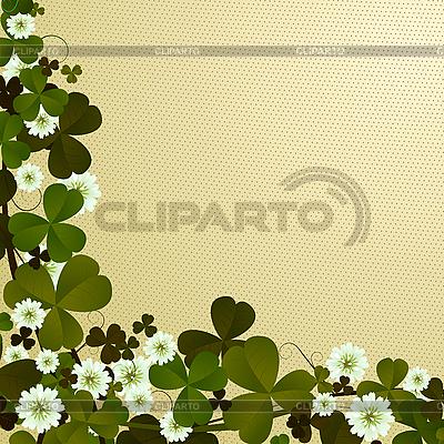 уголок-орнамент с листьями клевера на день Св. Патрика - lirch.