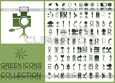 Зеленые веб-иконки | Векторный клипарт |ID 3002004