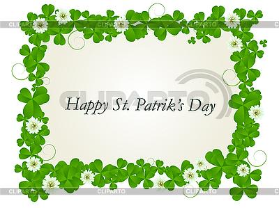 Rahmen zum St. Patrick\'s Tag   Stock Vektorgrafik  ID 3002122