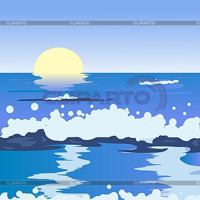 Ocean landscape | Stockowa ilustracja wysokiej rozdzielczości |ID 3002504