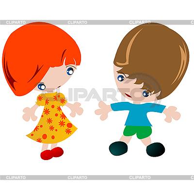 клипарт мальчик и девочка: