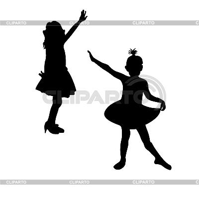 Dancing girls | Klipart wektorowy |ID 3006144