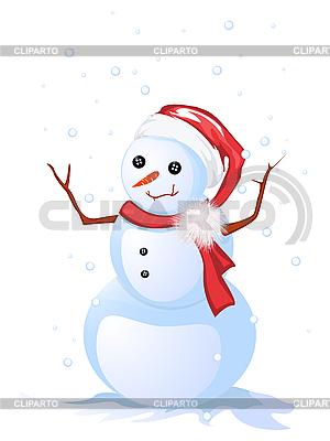 Szczęśliwy człowiek śniegu | Klipart wektorowy |ID 3011142