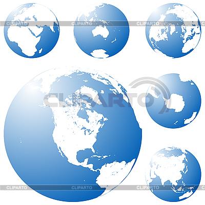 Blue planet | Klipart wektorowy |ID 3017909