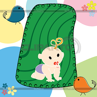 Illustration mit Baby | Stock Vektorgrafik |ID 3017985