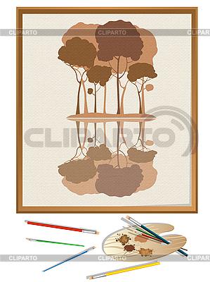 Painting and tools | Stockowa ilustracja wysokiej rozdzielczości |ID 3018316