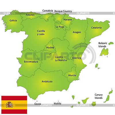 西班牙地图 | 高分辨率插图 |ID 3018528