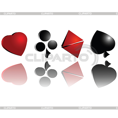 3D symbole kart do gry | Stockowa ilustracja wysokiej rozdzielczości |ID 3025129