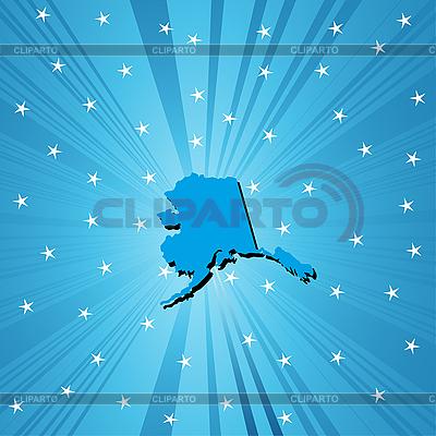 Blaue Lankarte Alaskas | Stock Vektorgrafik |ID 3025146