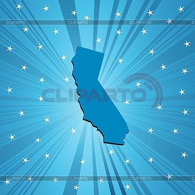 Niebieski California mapę | Klipart wektorowy |ID 3025183