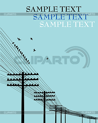 Ptaki na drucie | Klipart wektorowy |ID 3025229
