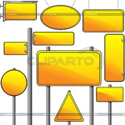Указатели и рекламные вывески | Векторный клипарт |ID 3025231