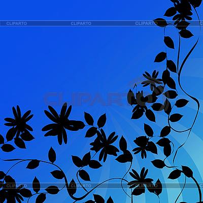 Kwiaty tła sylwetki | Stockowa ilustracja wysokiej rozdzielczości |ID 3025247