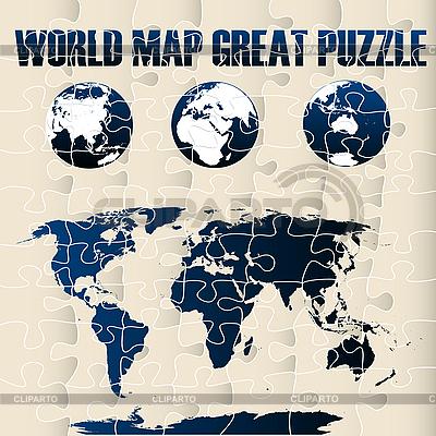 Welkarte Puzzle | Stock Vektorgrafik |ID 3025493