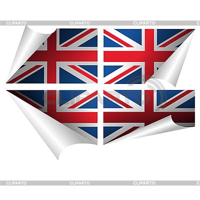 Britische Flagge-Aufkleber | Stock Vektorgrafik |ID 3032112