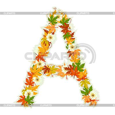 Как сделать буквы из листьев