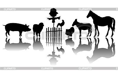 Landwirtschaftliche Nutztiere | Stock Vektorgrafik |ID 3075815