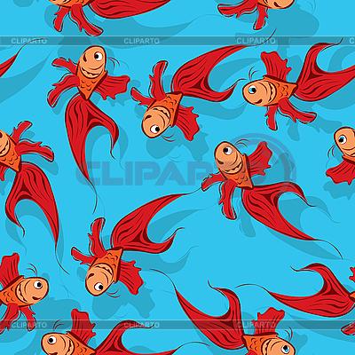 Nahtloser Hintergrund mit Fischen | Stock Vektorgrafik |ID 3077652