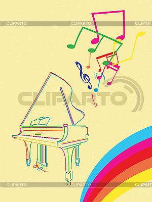 Grand piano z nut | Klipart wektorowy |ID 3089332