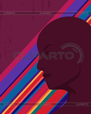 Silhouette eines Mannes | Stock Vektorgrafik |ID 3124753