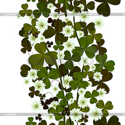 Koniczyny liści i kwiatów bez szwu | Klipart wektorowy |ID 3124979