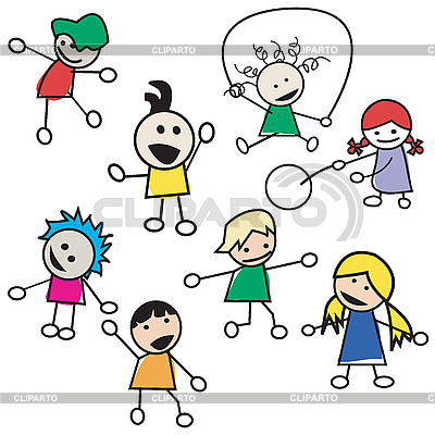 дети играют клипарт:
